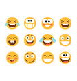 funny laughing faces vector image