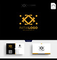 gold luxury and premium initial j logo template vector image