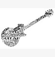 guitar in text vector image vector image