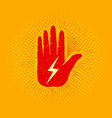 hand with lightning vector image vector image