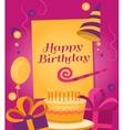 Happy Birthday banner vector image vector image