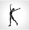 healthy life logo arm raised silhouette vector image