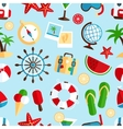 Holiday vacation seamless pattern vector image