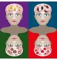 Human head vektor vector image vector image