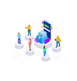 isometric online shopping concept landing vector image vector image