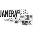 janera global nomads global culture magazine txt vector image vector image
