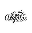 los angeles city name original design black ink vector image vector image