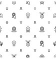 medal icons pattern seamless white background vector image vector image