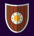medieval shield icon and label flat style logo vector image vector image
