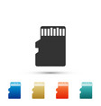 micro sd memory card icon on white background vector image vector image