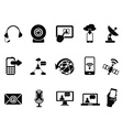 modern communication icons set vector image vector image