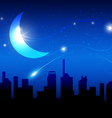 moon and night of city vector image vector image