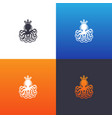 octopus silhouette set vector image vector image