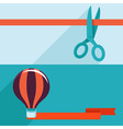 opening and launching concept in flat style vector image vector image