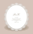 oval frame with lace border pattern vector image vector image