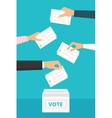 People Vote at Election vector image vector image