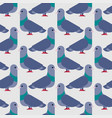 pigeon seamless pattern dove background vector image vector image