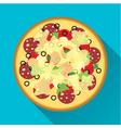 Pizza flat design vector image