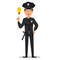 police officer policeman vector image vector image