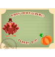 postcard happy thanksgiving in retro style vector image