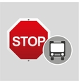 public transport stop road sign design vector image