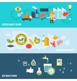 Quality control banners vector image vector image