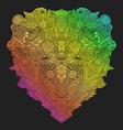 rainbow hand drawn decorative entangle vector image