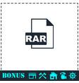 rar icon flat vector image vector image