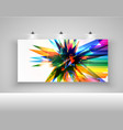 realistic billboard with lights vector image vector image