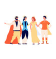 royal family cartoon queen king princess and vector image vector image