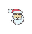 santa claus face merry christmas colored vector image