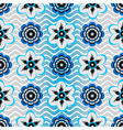 Seamless white-gray-blue floral pattern vector image vector image