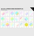 set of fresh linear web gradients vector image