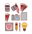set work elements for graphic design on white vector image vector image