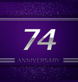 seventy four years anniversary celebration design vector image vector image