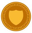 shield digital coin vector image vector image