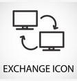 simple exchange line art icon vector image vector image
