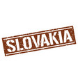 slovakia brown square stamp vector image vector image