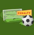soccer ball on penalty spot at stadium football vector image vector image
