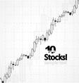 stocks background vector image