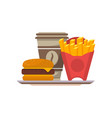 street food isolated icon in flat style vector image vector image