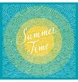 Summertime Handwritten phrase on color background vector image