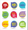 super sale discount tags and stickers collection vector image vector image