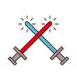 sword weapon warrior game vector image vector image