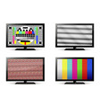 tv test pattern and no signal screens vector image vector image