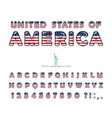 usa cartoon font united states america vector image vector image