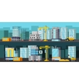 Construction Site Orthogonal Banners vector image
