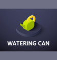 watering can isometric icon isolated on color vector image