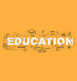 education word with icons design vector image