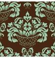 Ornamental floral background vector image